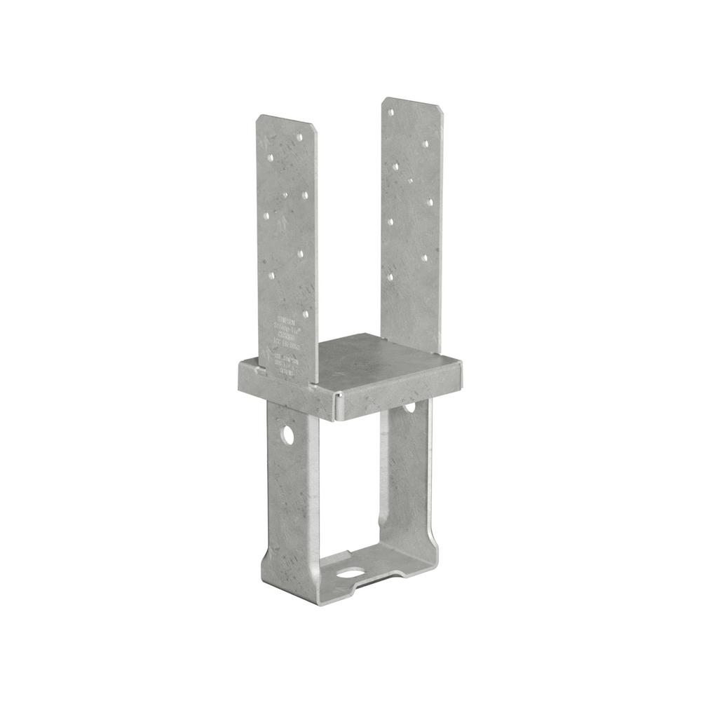 6 in. x 6 in. 12-Gauge Hot-Dip Galvanized Standoff Column Base with SDS Screws