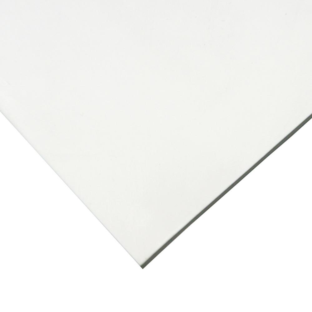 Nitrile 3/8 in. x 8 in. x 8 in. Commercial Grade White 60A Buna Sheets