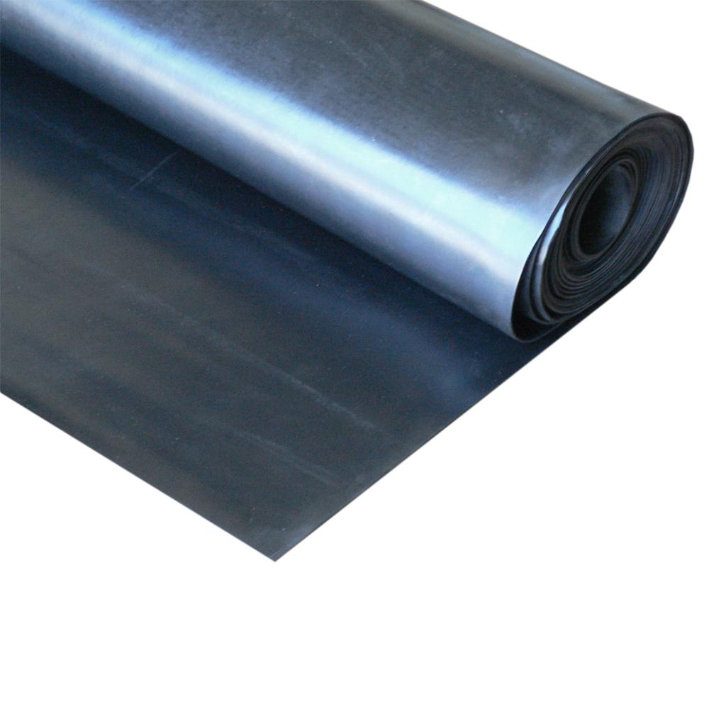 EPDM 1/2 in. x 24 in. x 12 in. Commercial Grade 60A Rubber Sheet - Black