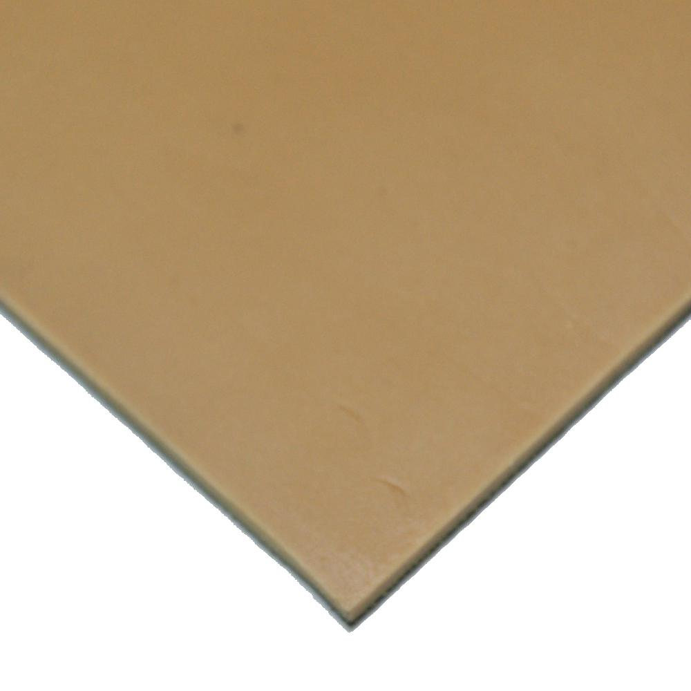 Pure Gum Rubber 3/16 in. x 6 in. x 12 in. Tan Commerical Grade 40A Rubber Sheet
