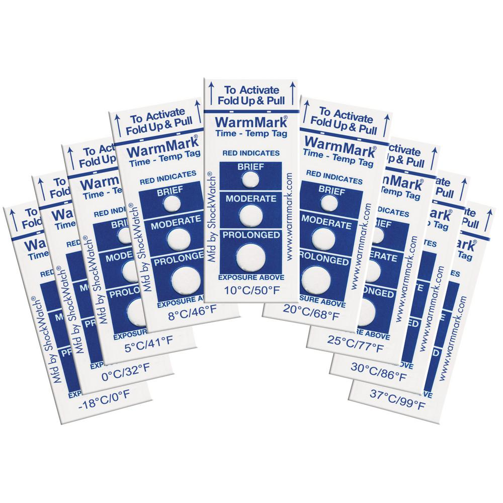 WarmMark 25┬░C/77┬░F Temperature Indicator (10-Pack)