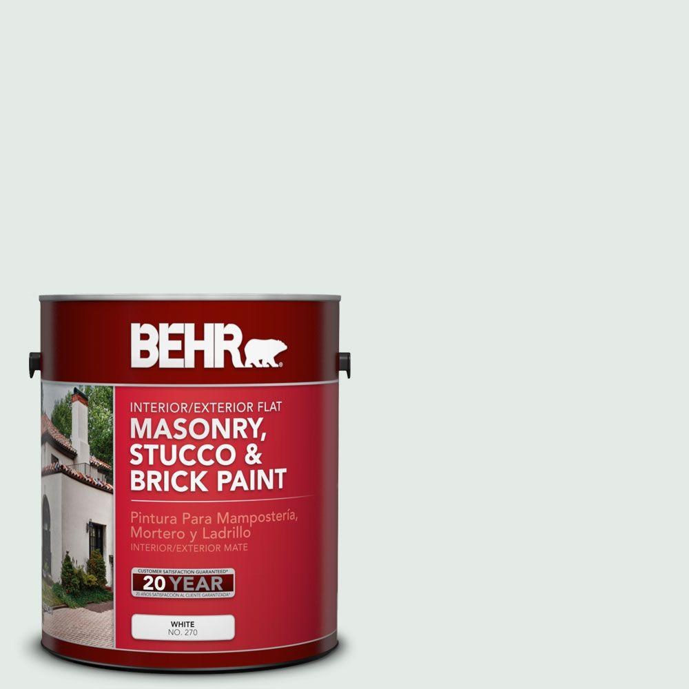 1-gal. #MS-63 White Clad Flat Interior/Exterior Masonry, Stucco and Brick Paint