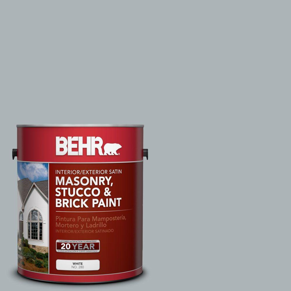 1 gal. #MS-67 Quay Blue Satin Interior/Exterior Masonry, Stucco and Brick Paint