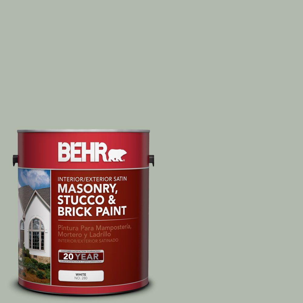 1 gal. #MS-58 Antique Jade Satin Interior/Exterior Masonry, Stucco and Brick Paint