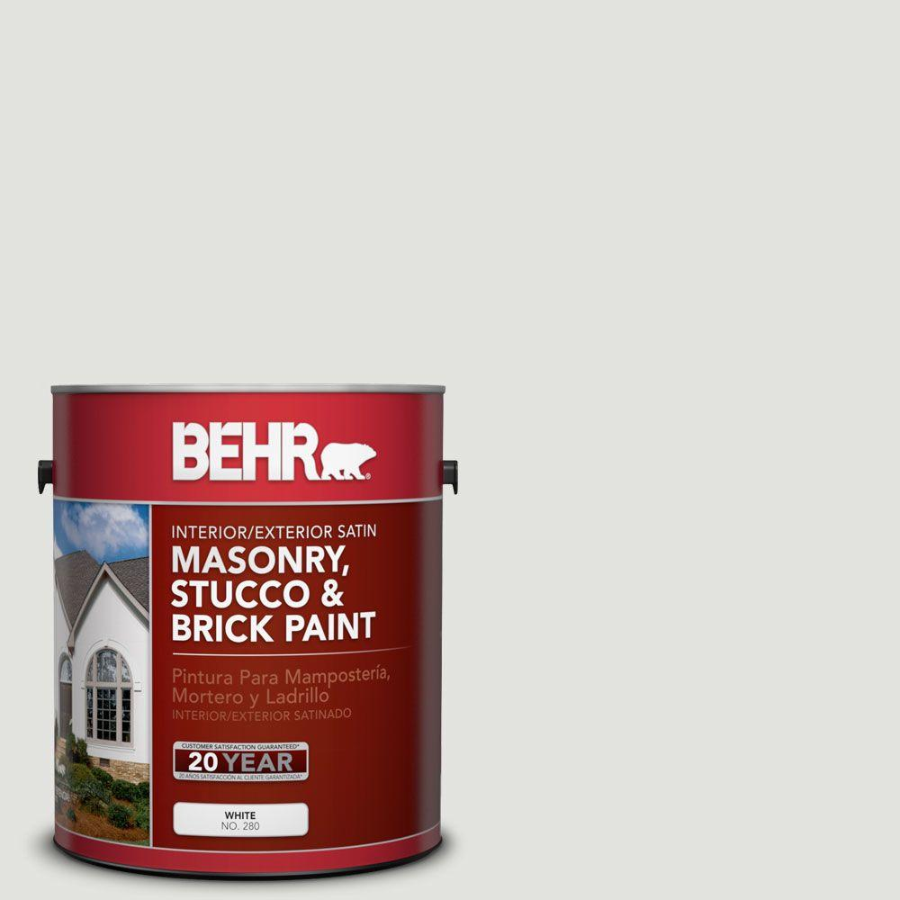 1-gal. #MS-55 Arctic Gray Satin Interior/Exterior Masonry, Stucco and Brick Paint