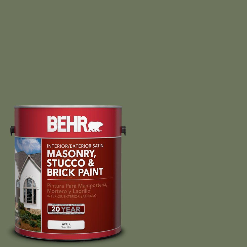 1 gal. #MS-54 Frontier Trail Satin Interior/Exterior Masonry, Stucco and Brick Paint