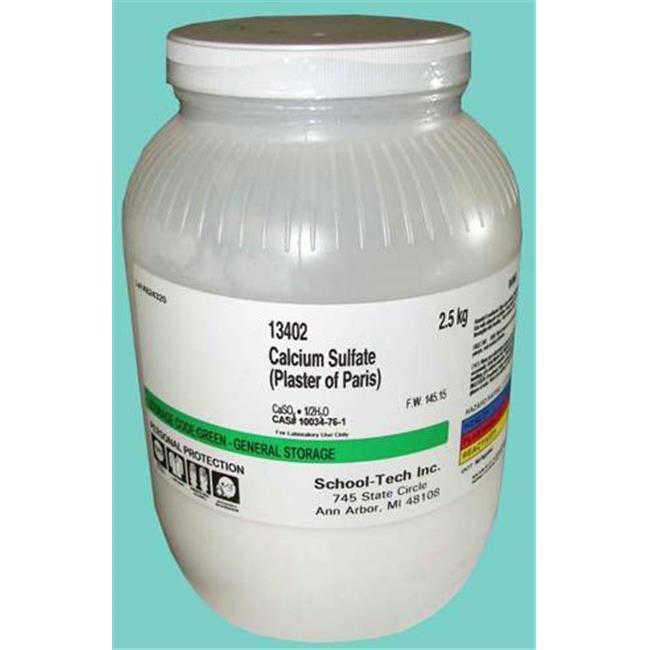 Olympia Sports 13402 Calcium Sulfate - plaster of paris powder - 2.5kg